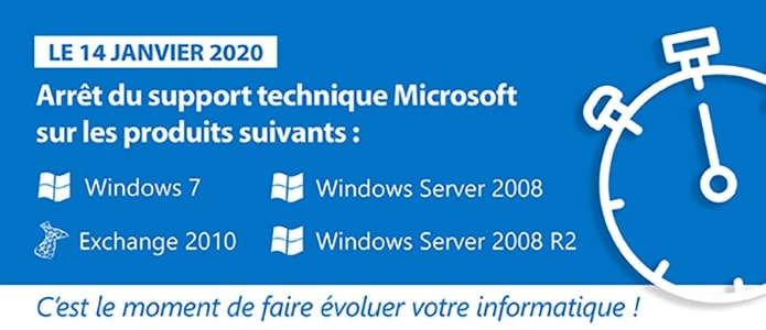 """Votre pc Windows 7 ne bénéficie plus du support""."
